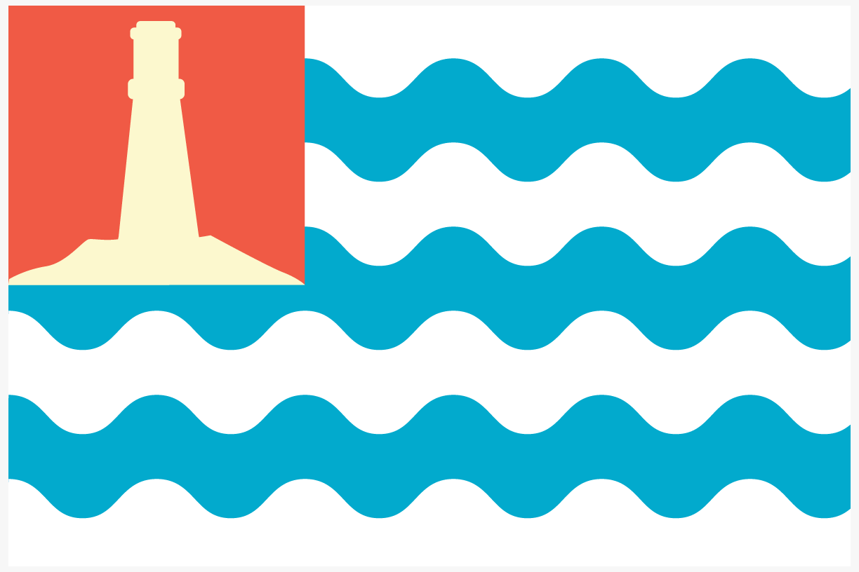 Key Biscayne flag prototype 1991 extrapolated from rejected seal