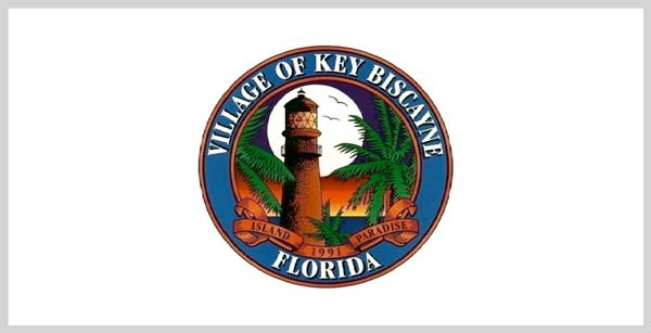 Key Biscayne seal on white banner