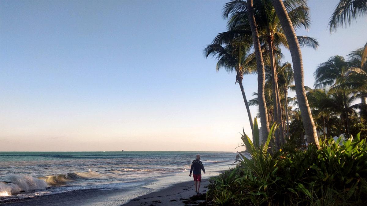 Key Biscayne Beach park beach 2020