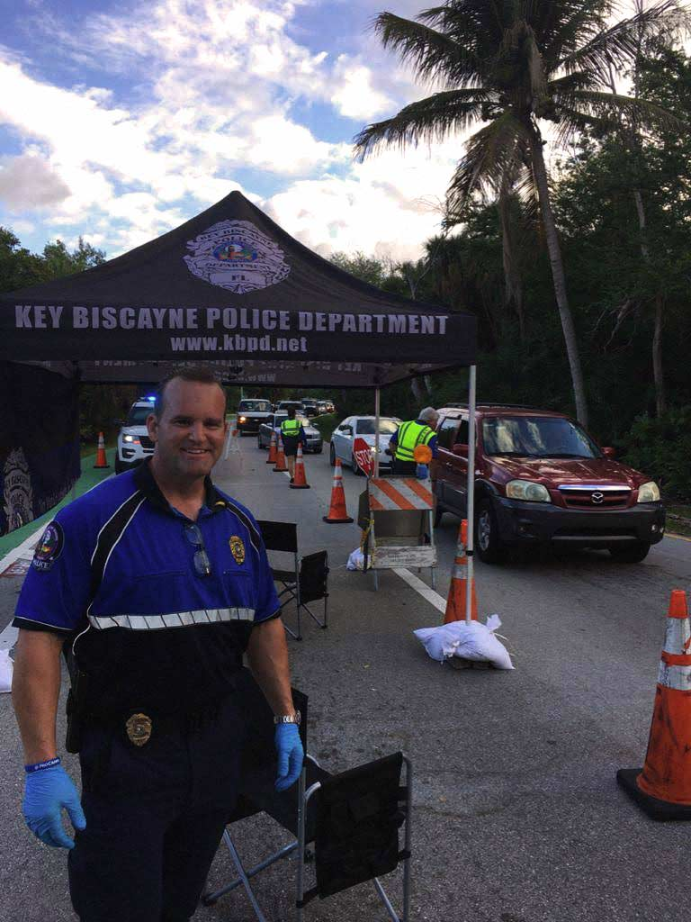 Key Biscayne police checkpoint coronavirus March 2020