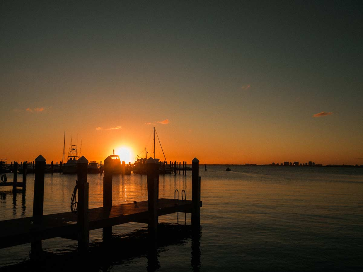 Sunset Key Biscayne Yacht Club March 2020
