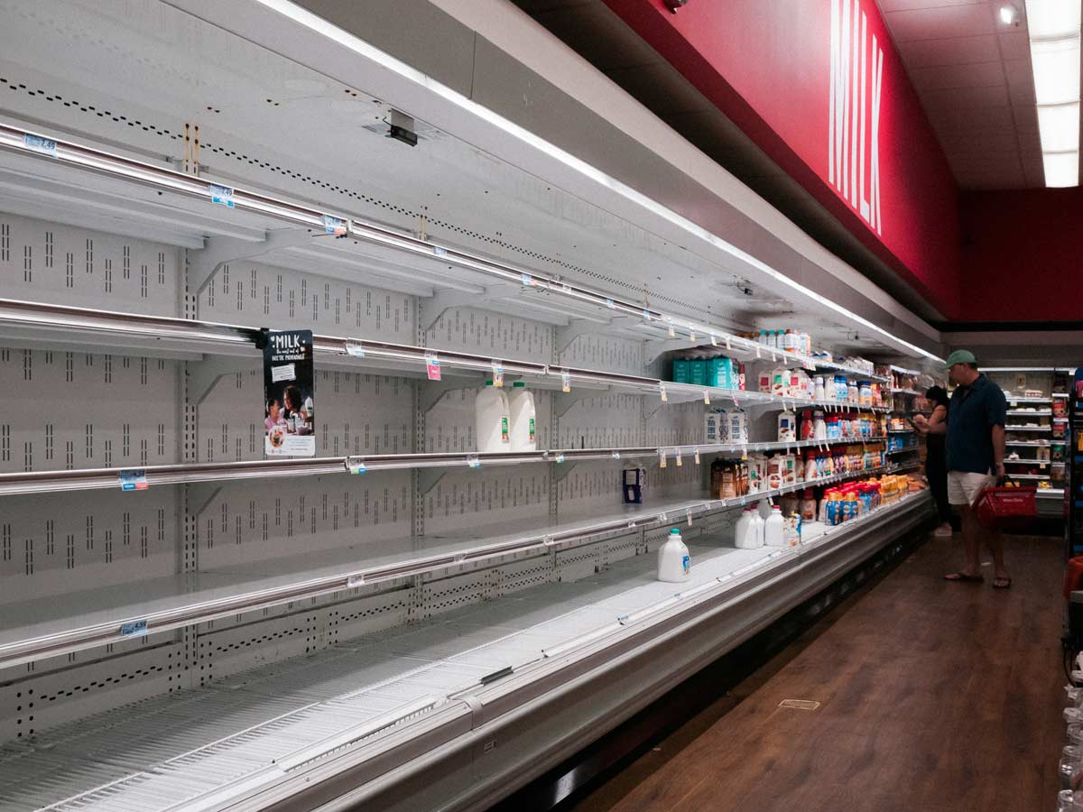 Empty shelves at Winn Dixie Key Biscayne during coronavirus outbreak