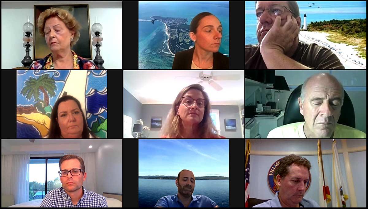 Key Biscayne Village Council videoconference April 2020