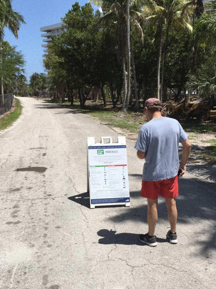 Man wonders if he should go into Crandon Park during coronavirus Key Biscayne April 2020