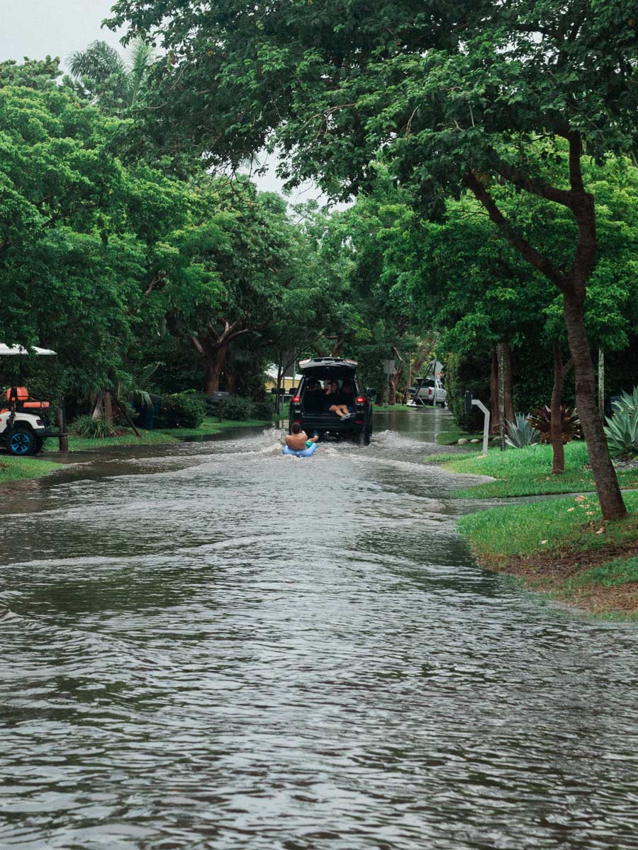 Flooding in Key Biscayne May 2020