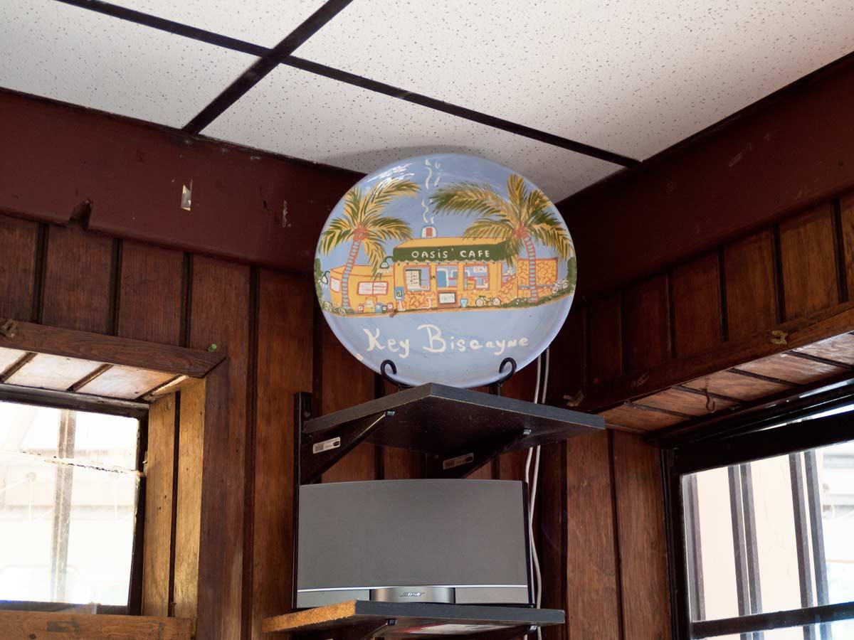 Oasis Cafe plate Key Biscayne