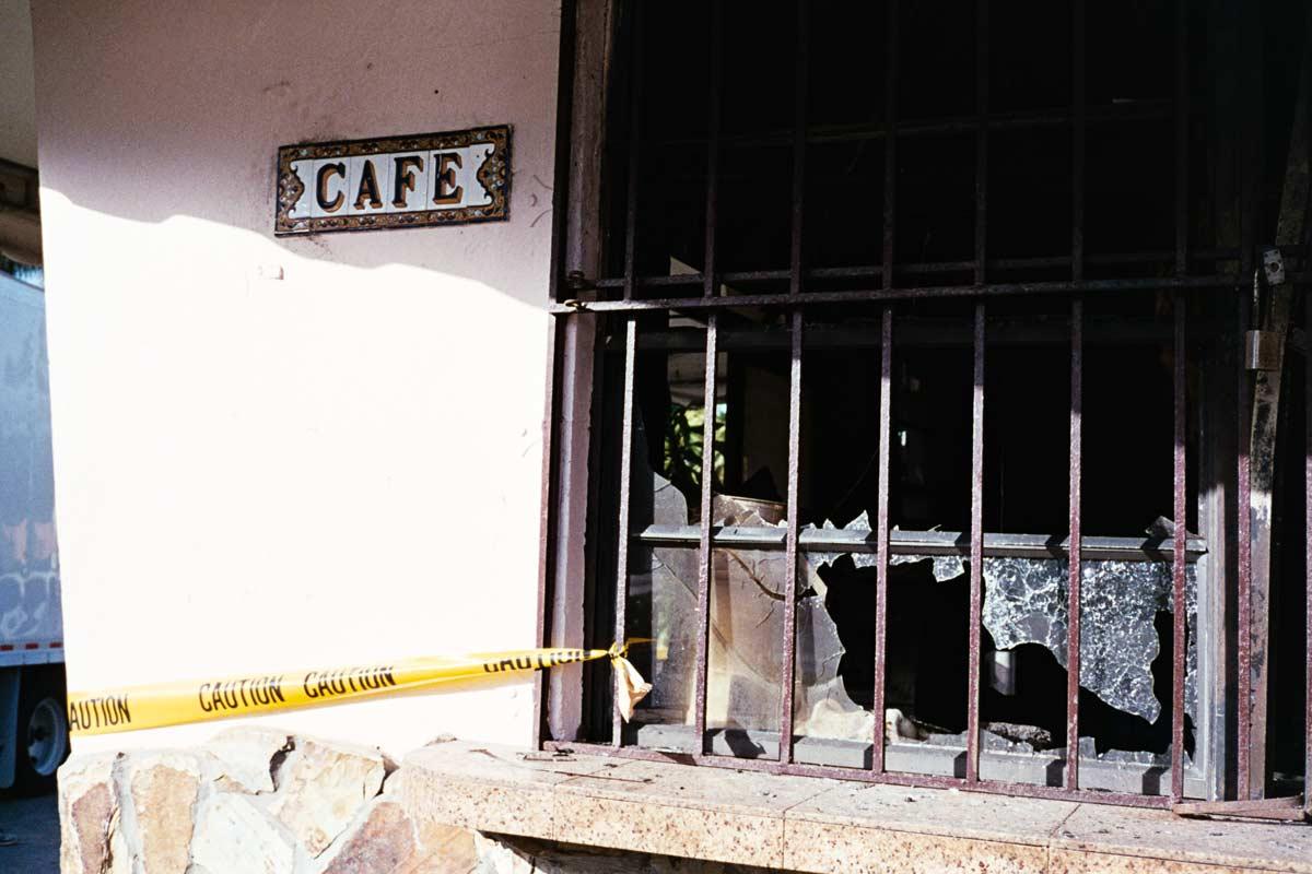 Oasis Cafe post fire January 2017
