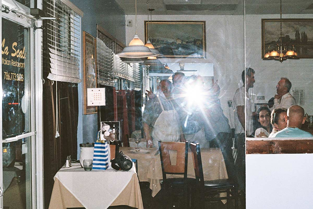 Vito Cardinale and others at his restaurant, La Scala, in Key Biscayne April 2017