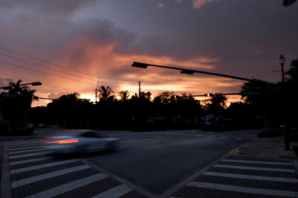 Crandon blvd and South Mashta intersection Key Biscayne august 2020