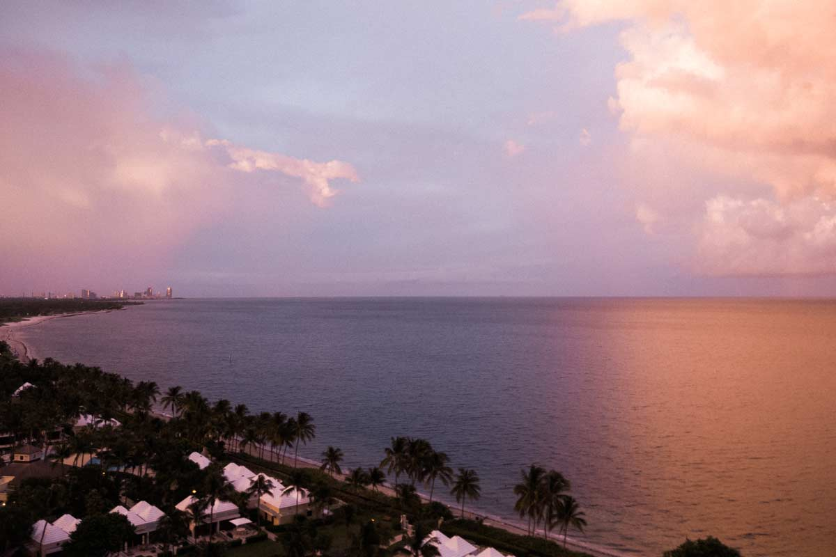 Key biscayne beach view looking north east august 2020