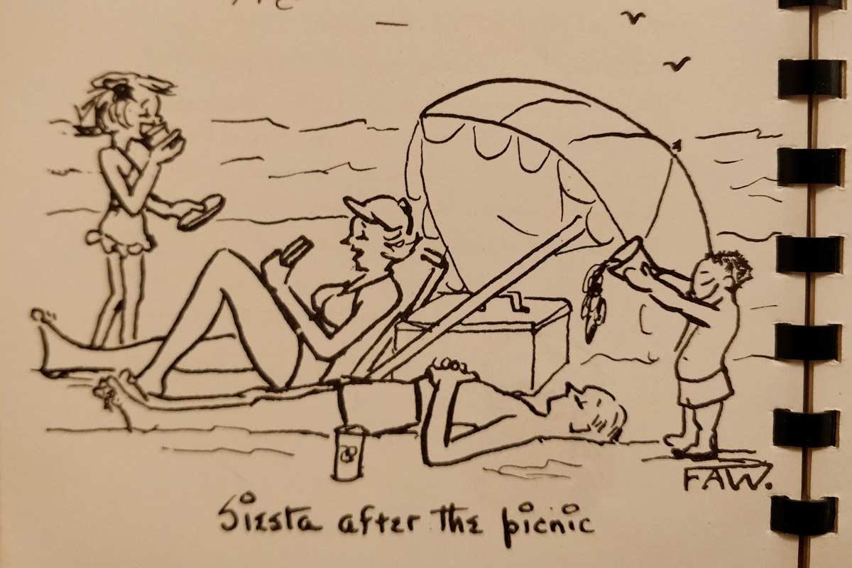 Illustration from Key Biscayne cookbook 1954