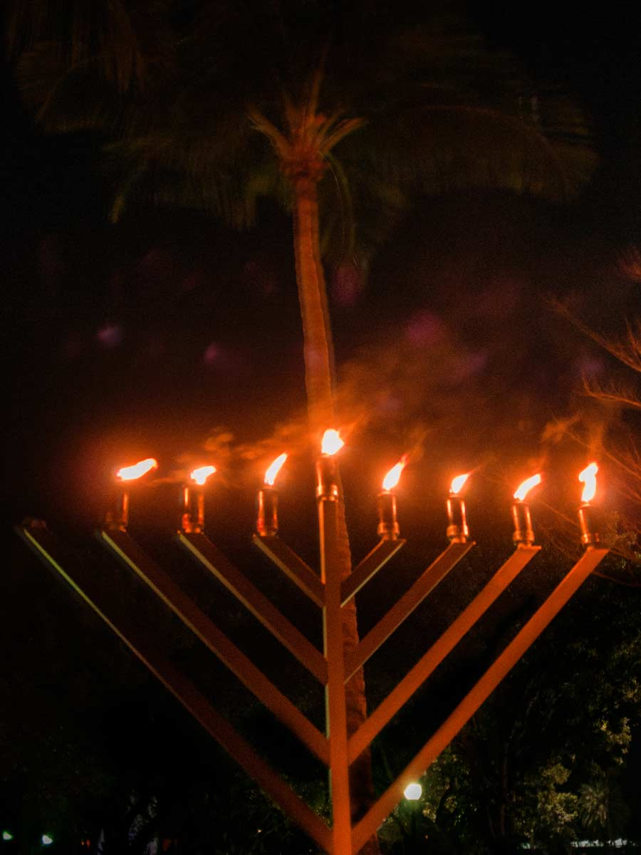 Key Biscayne menorah December 2020