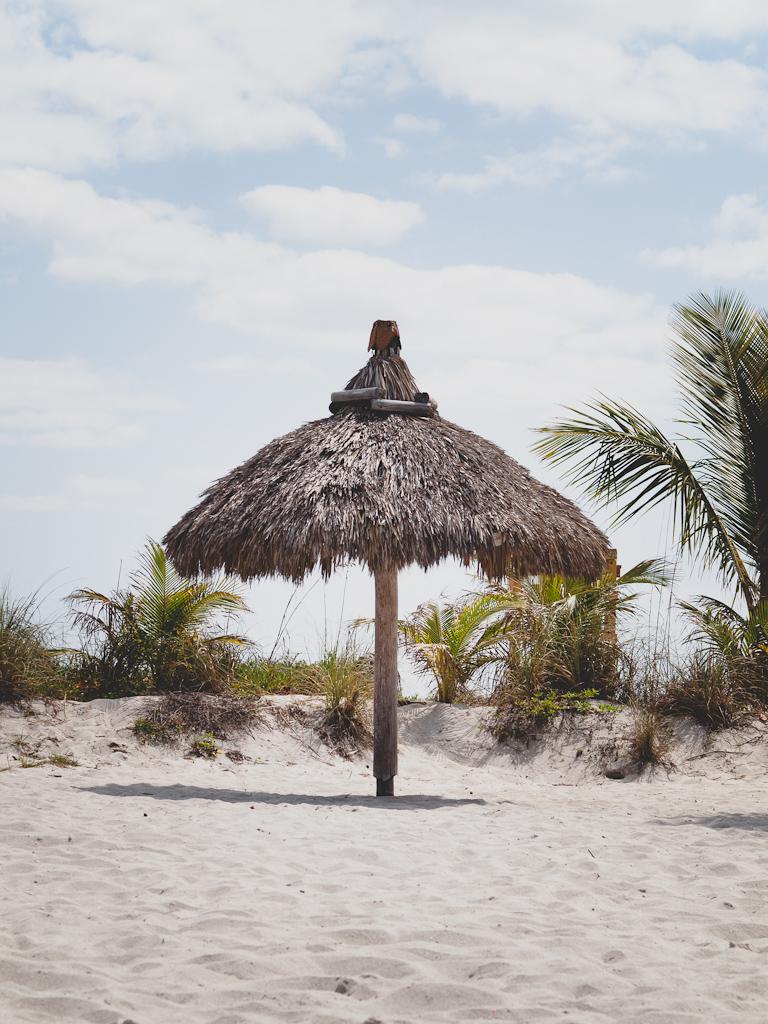 Key Biscayne Beach Club chickee umbrella