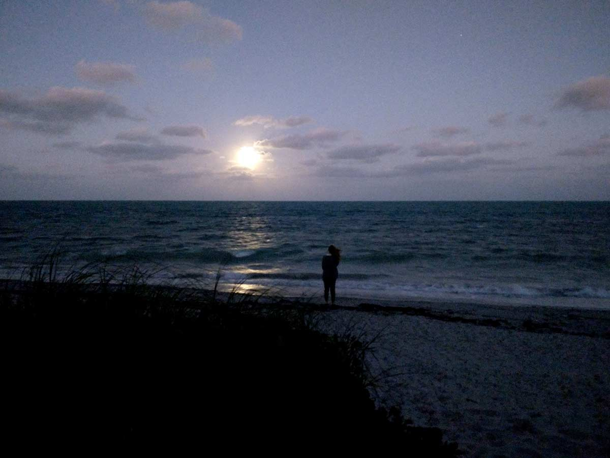 moonrise key biscayne jan. 2021