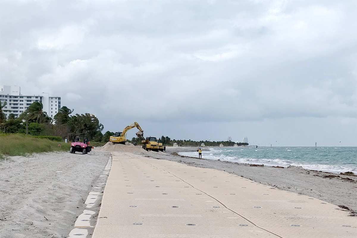 Key Biscayne beach renourishment