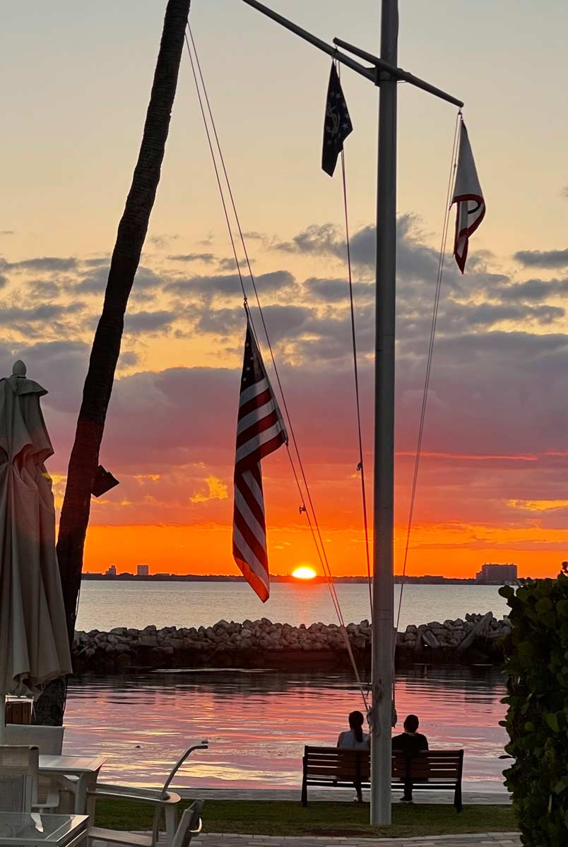 Sunset Key Biscayne Yacht Club March 2021
